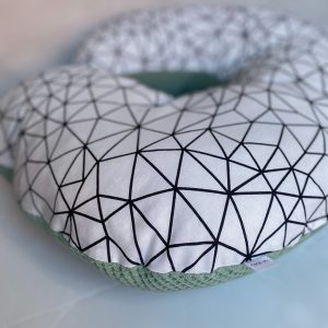Waffle Weave and Printed Cotton Feeding Pillow